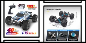 DEERC RC Cars 110 Scale Large High Speed-min
