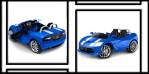 Kid Trax Dodge Viper SRT 12V Battery-Powered Ride-On Toy, Blue-min