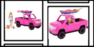 Barbie Camping Fun Doll, Pink Truck