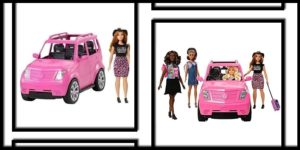 Barbie SUV Girls Trip Play Set with 4 Dolls