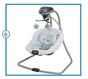 Graco Simple Sway Baby  Swing –Best Compact Baby Swing-min