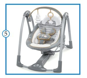 Ingenuity Boutique Swing & Go Best Portable Swing