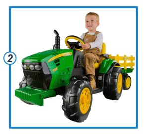 Peg Perego John Deere Ground Force Tractor with Trailer-min