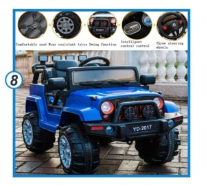 SuxiDi Jeep XR Electric Ride On Car with Remote Control-min