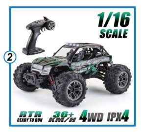 16 All Terrain RC Car, 36kmh 4WD Off-Road RC Trucks-min