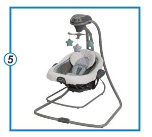Graco DuetConnect LX Baby Swing and Bouncer, Manor-min