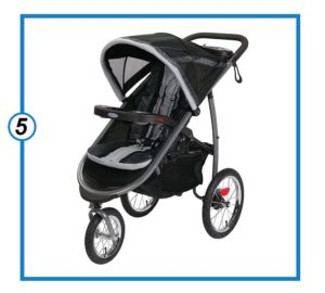 Graco FastAction Fold Jogging Stroller, Gotham-min