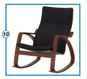 Ikea Poang Rocking Chair Medium Brown with Cushion-min