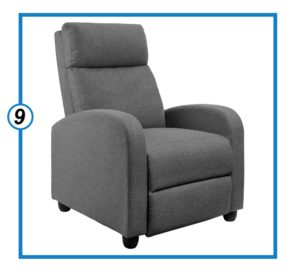 JUMMICO Fabric Recliner Chair Adjustable Single Sofa with Cushion and Backrest-min