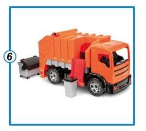 LENA Powerful Orange Truck Toys for Kids-min