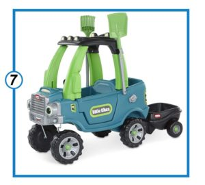 Little Tikes Go Green! Cozy Truck Trailer & Garden Tools-min