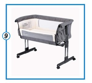 Mika Micky Bedside Sleeper Easy Folding Portable Crib-min