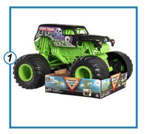 Monster Size Grave Digger Monster Jam Truck-min