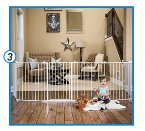 Regalo 192-Inch Super Wide Adjustable Baby Gate and Play Yard-min