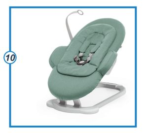Stokke Steps Cool Jade Portable Baby Bouncer with Multiple Seating Positions-min