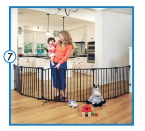Toddleroo by the North States 3 in 1 Arched Décor Metal Superyard extra wide baby gate-min