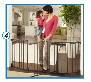 Toddleroo by the North States 72 wide Deluxe Décor Baby Gate-min