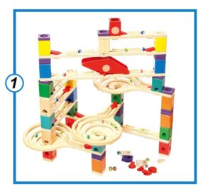 Hape Quadrilla Wooden Marble Run-min
