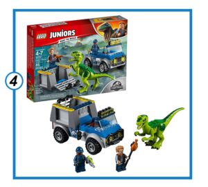 Lego Juniors Jurassic World Raptor Rescue Truck-min