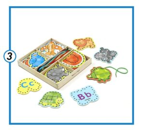Melissa & Doug Alphabet Wooden Lacing Cards-min
